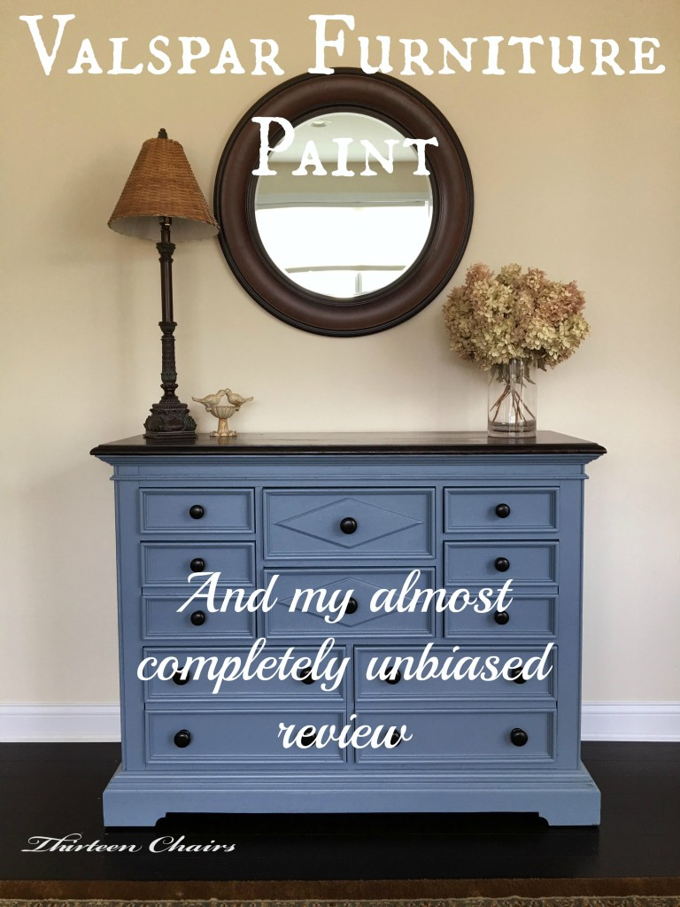 Painting with Valspar Furniture Paint Thirteen Chairs