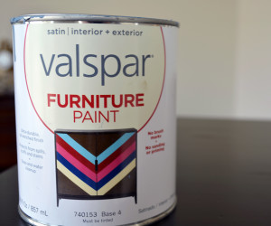 Painting With Valspar Furniture Paint