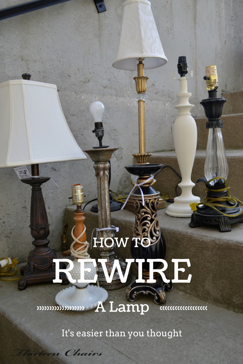 How To Rewire A Lamp Thirteen Chairs Wiring Knot Lamps
