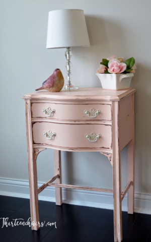 Light Peach Chalk Paint and Distressed