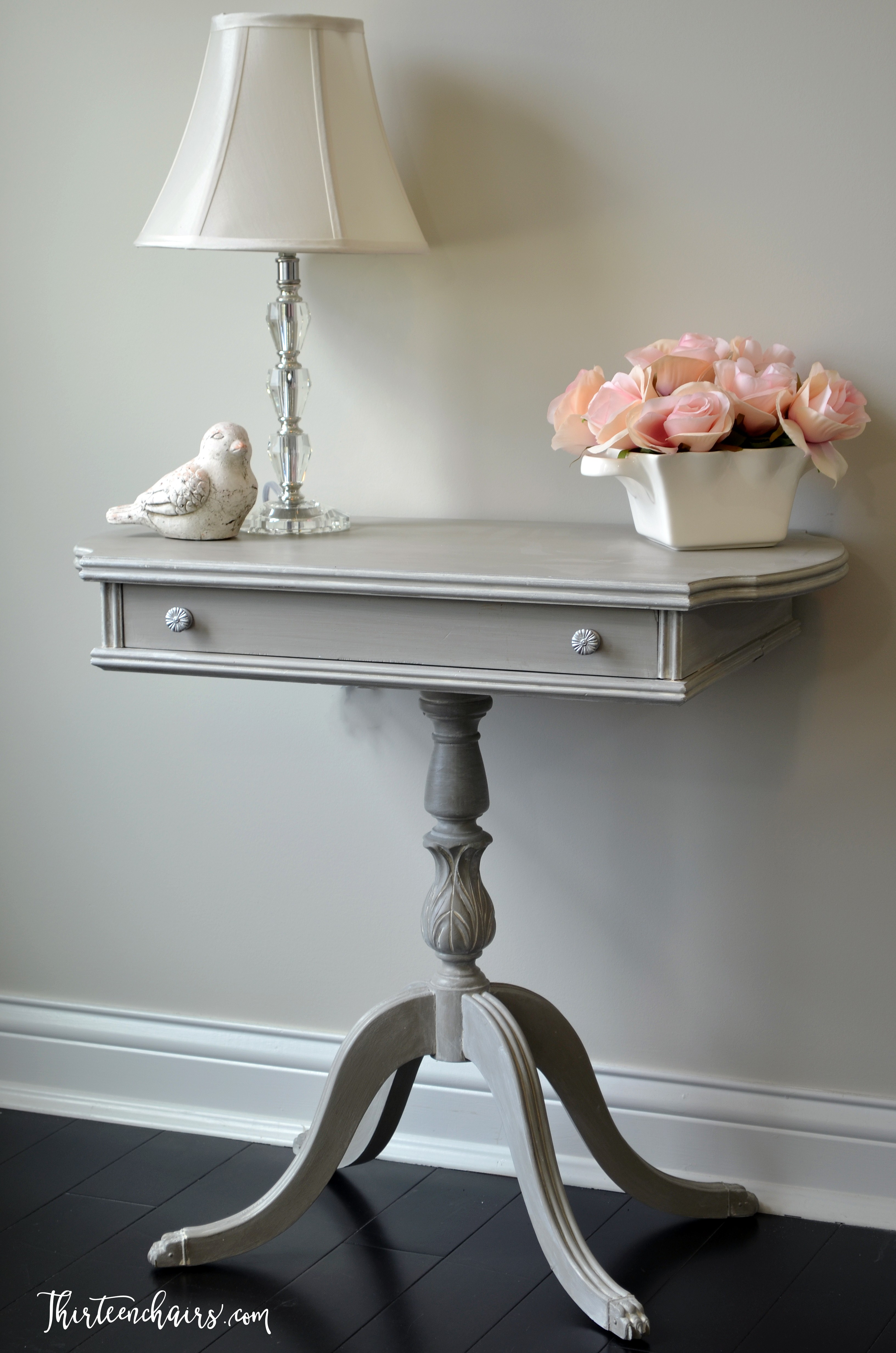 French Linen Chalk Paint with a white wash and clear wax