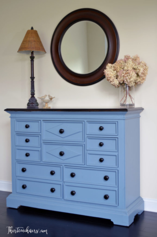 Midnight For dresser with Espresso stained top and knobs