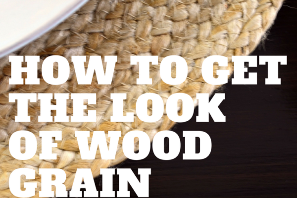 How to get the Look of Wood Grain with Paint