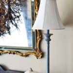 White Chalk painted Lampshade