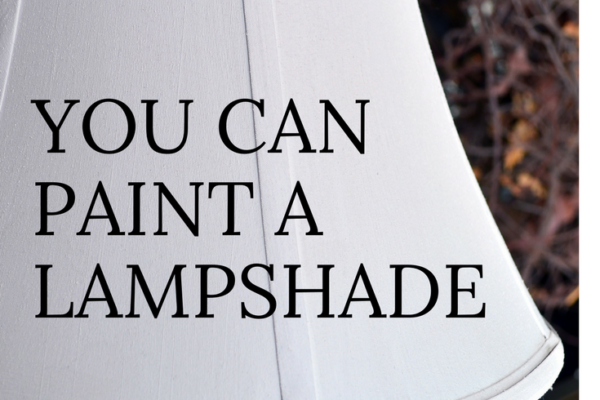 Yes! You can paint a Lampshade.